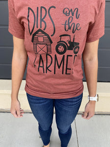 Dibs On Farmer - Graphic Tee - RTS
