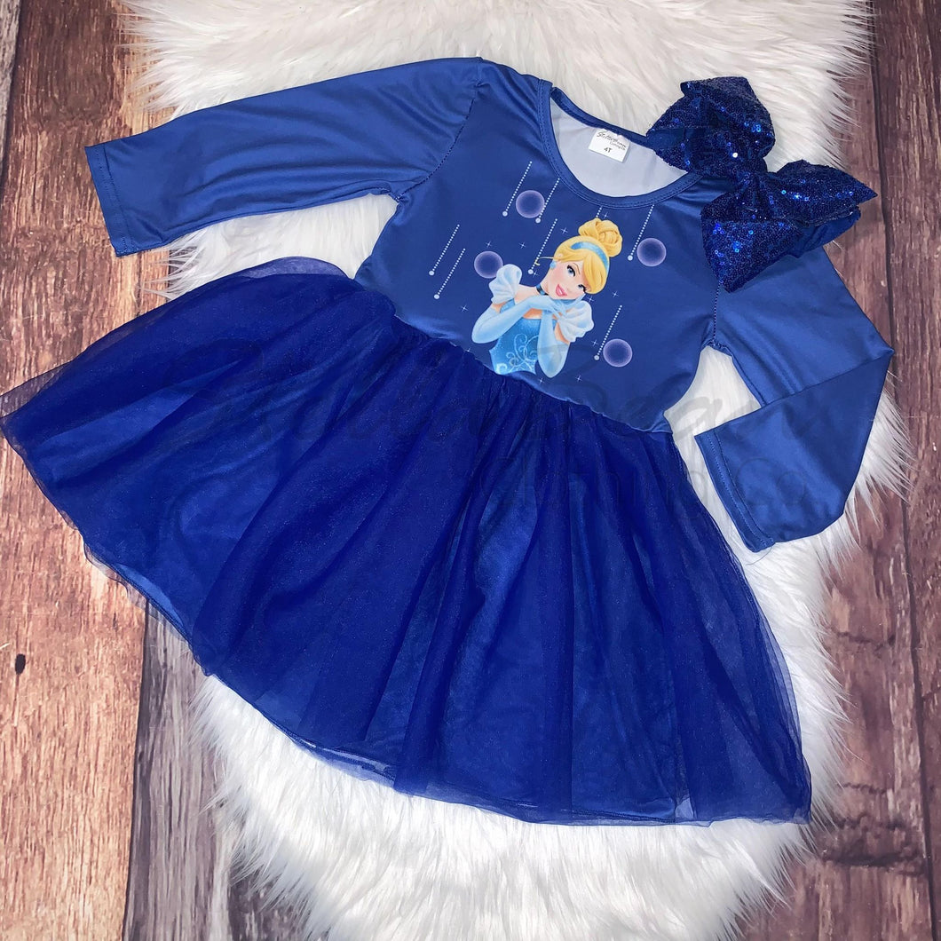 Long Sleeve Tulle Princess Dress - Cinderella