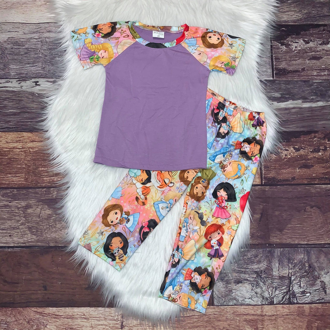 Printed Character Loungewear - Princess Critters