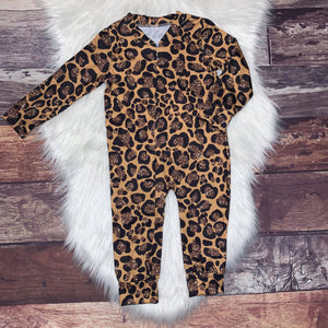 Zip-Up Romper Sparkle Leopard
