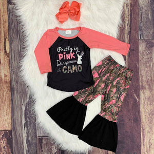 Pretty in Pink, Dangerous in Camo Bells Set