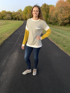 Mustard Sleeve Long Sleeve - RTS