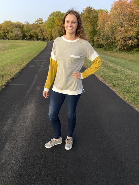 Mustard Sleeve Long Sleeve