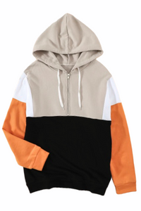 Color Block Hoodie - Orange - RTS