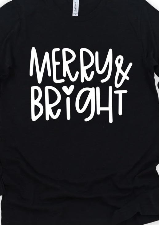 Merry & Bright - Graphic Tee - RTS