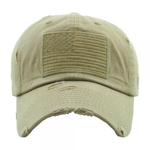 Light Tan Flag Hat - RTS