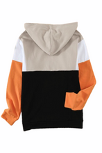 Load image into Gallery viewer, Color Block Hoodie - Orange - RTS