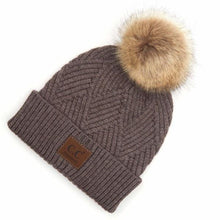 Load image into Gallery viewer, CC Beanie with Pom - RTS