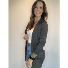 Load image into Gallery viewer, Ribbed Cardigan - Charcoal Grey - RTS