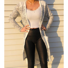 Load image into Gallery viewer, White Stripe Cardigan - RTS