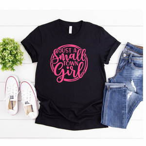 Small Town Girl Pink - Graphic Tee - RTS