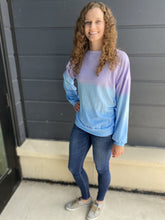 Load image into Gallery viewer, Purple/Blue - Tie Dye Pullover - RTS