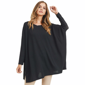 Black Flowy Long Sleeve Top - RTS