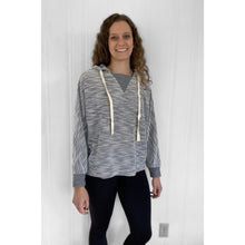 Load image into Gallery viewer, V Neck Hoodie - Gray - RTS