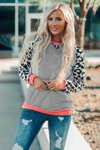Load image into Gallery viewer, Long Sleeve Leopard Pullover - Gray - RTS