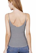 Load image into Gallery viewer, Stripe Cami Top - Black - RTS