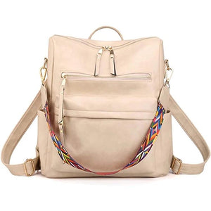 Back Pack with Guitar Strap - Cream