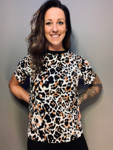 Tan Leopard Short Sleeve - RTS