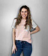 Load image into Gallery viewer, Pink Stripe Short Sleeve - RTS