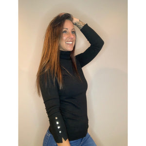 Turtleneck with Detail - Black - RTS