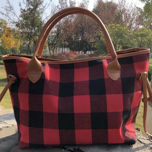 Red Buffalo Plaid Tote - Pre Order