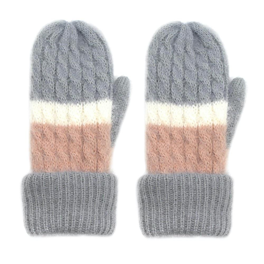 Gray Fleece Lined Mittens - RTS