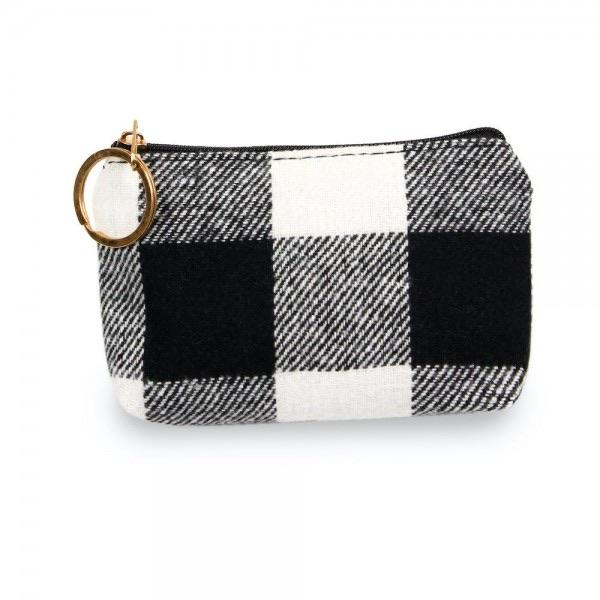 Card & Coin Purse - Buffalo Plaid - RTS