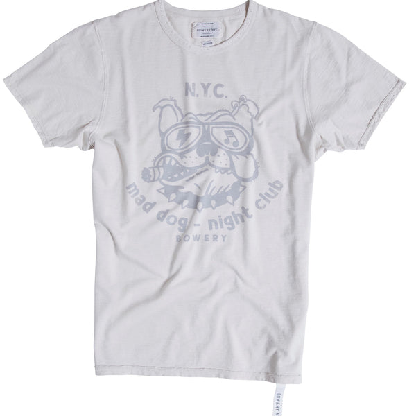 "Bowery Roundneck ""Mad Dog - Night Club "" Tee - TMA114 - DESTROYED"