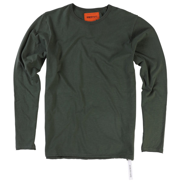 Bowery Essentials Long Sleeves Tee - Slub Jersey - TMB345