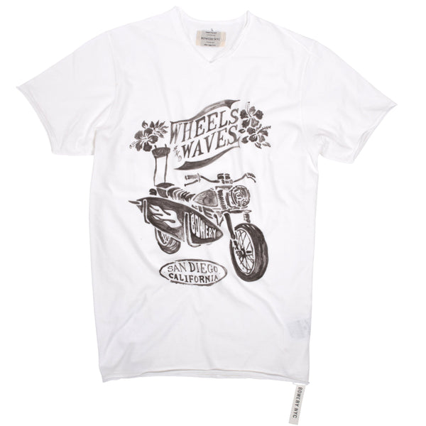 "Bowery ""Wheels Waves"" Tee - TMA414"