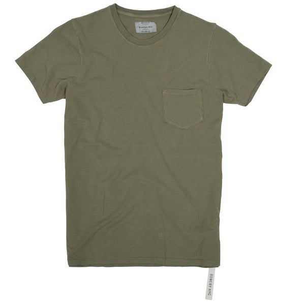 Bowery Essentials Tee - Slub Jersey with pocket - TMB453