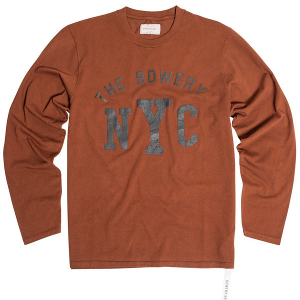 """The Bowery NYC"" Tee - TMA519-LS Long Sleeve"