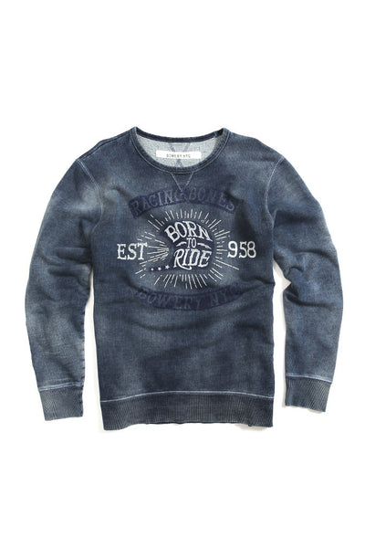 Bowery Racing Bones Crewneck - FMA323 Light Vintage