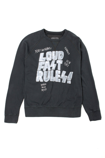 Raglan Roundneck Sweat - FMA810 Vintage Black
