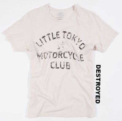 Bowery Little Tokyo Tee   -  TMA509 - DESTROYED