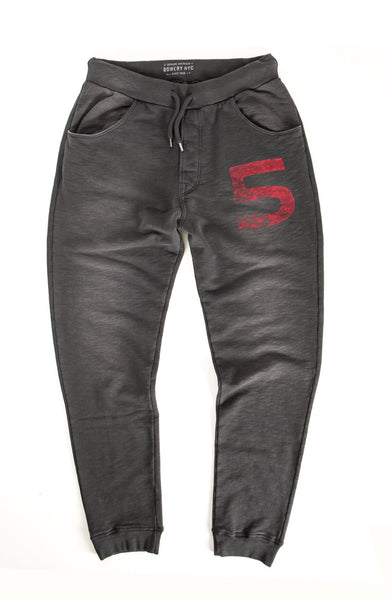 "sweat Pant ""5"" - BWPMA620  Spray Pirate Black"