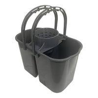 Kibble Wetto Double Bucket Grey (15 Ltrs.)