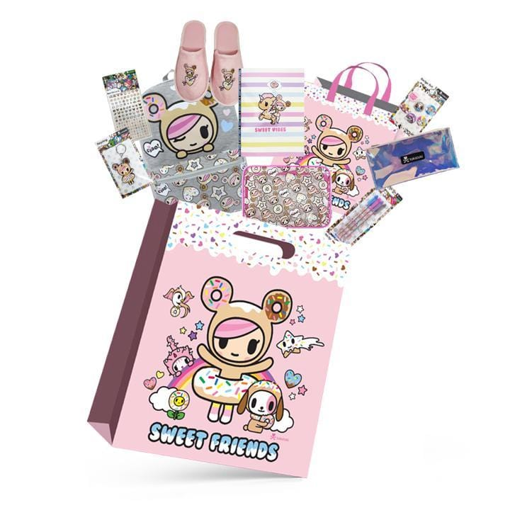 Toki Doki Girls Showbag w/Backpack/Clutch/Slippers/Nail Sticker/Pen/Cosmetic Bag