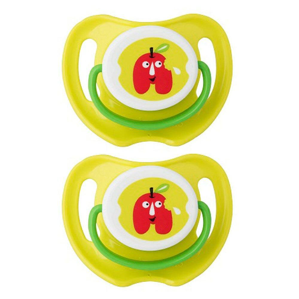 2PK Pigeon Calming Baby Soother Dummy Size S Feeding Pacifier 0m+ Apple Green