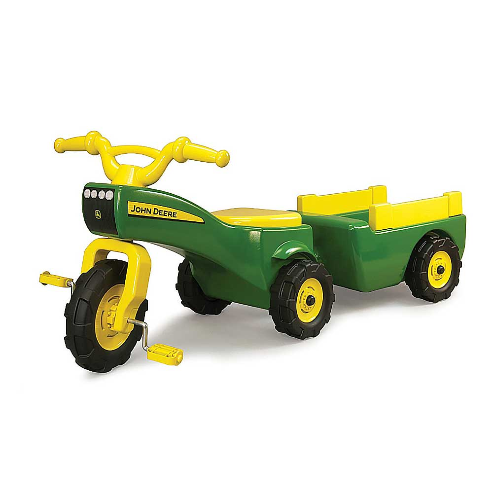 John Deere Ride-on Trike Wagon Set Tricycle Bike Pedal Tractor - 46088