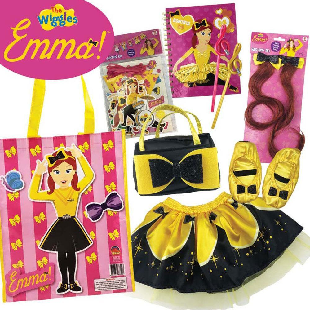The Wiggles Emma Showbag w/ Slippers/Skirt/Handbag/Notebook/Hair Bow Girls Set