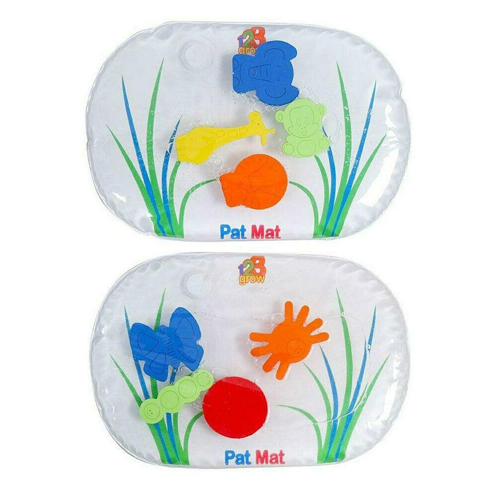 2x 123 Grow 38x23cm Pat Mat Junior Water-Filled Bugs/Jungle Interactive Baby 6m+