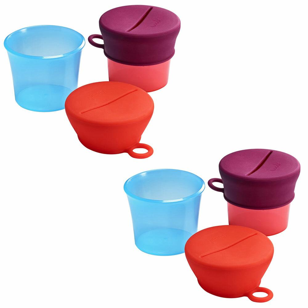 2PK Boon Snug Baby/Kids Snack Container Food Silicone Lid w/ Cup Storage 9m+ PK