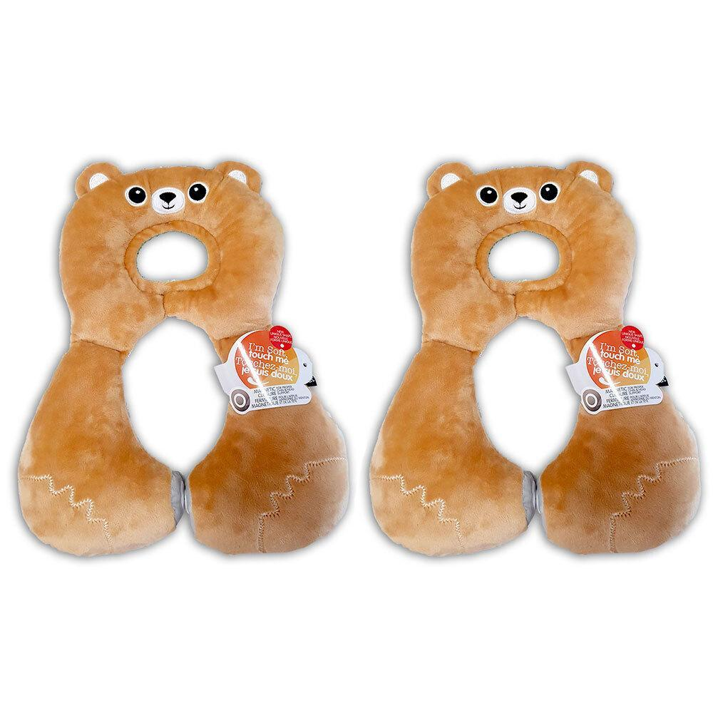 2x Benbat Total Support Headrest Head/Neck Rest Travel Baby 1-4y Car Pillow Bear