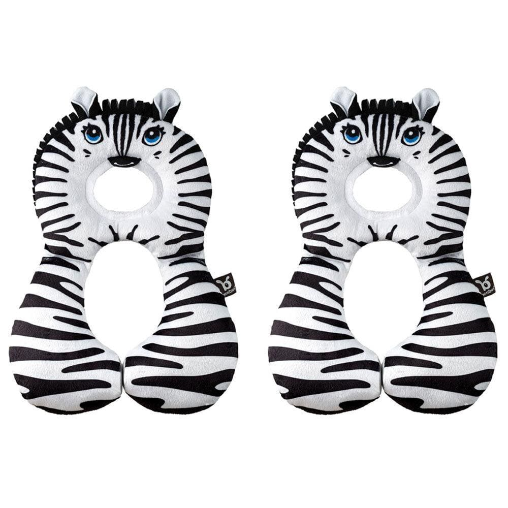 2PK Benbat Total Support Headrest Head/Neck Travel Baby Car Pillow Zebra BLK/WHT