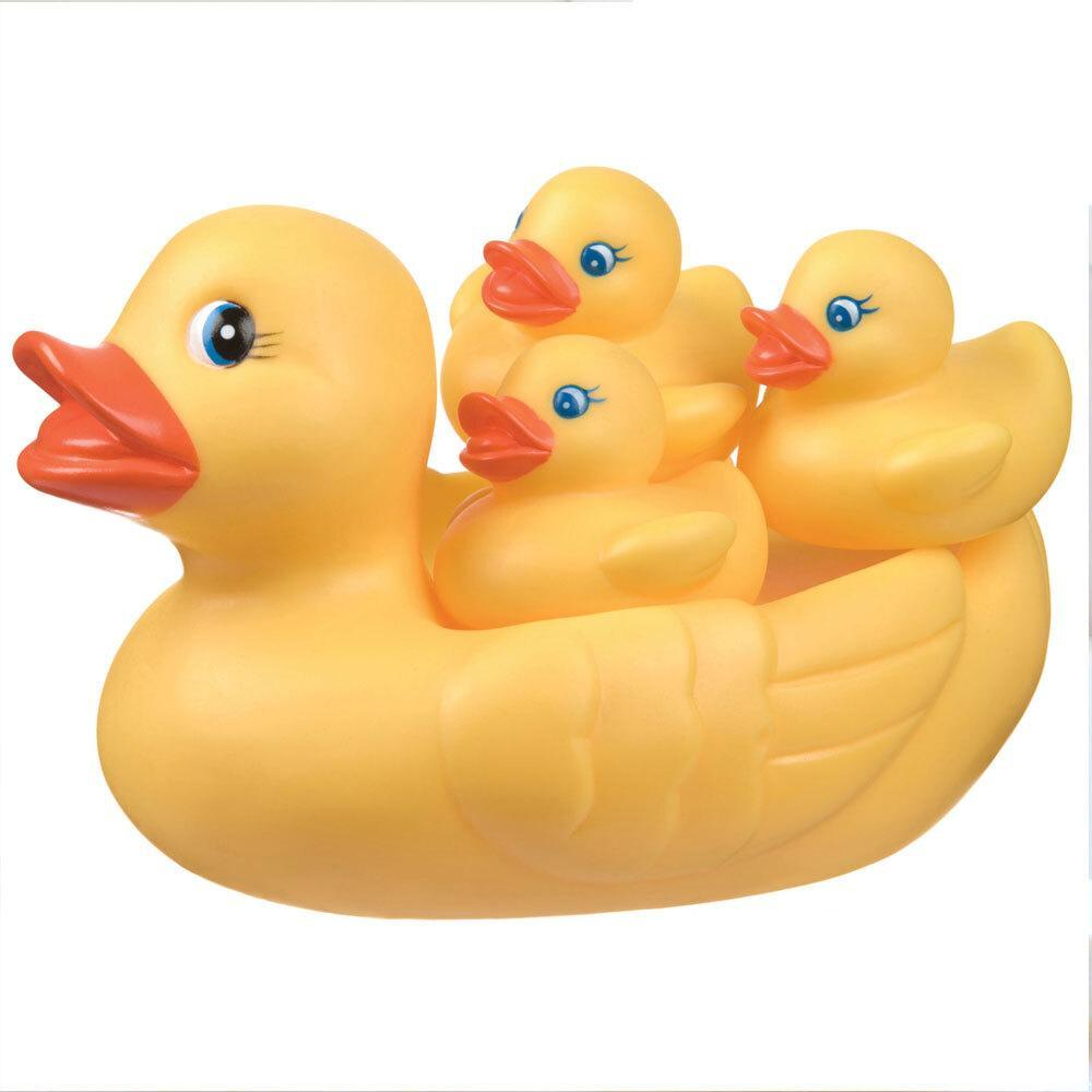 4pc Playgro Floating Rubber Ducks/Duckie Bath/Water Toys For Baby/Toddlers 6m+