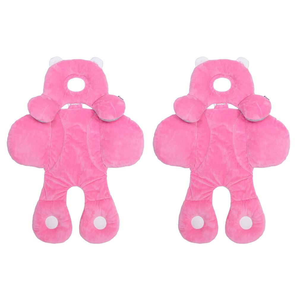 2PK Benbat Travel Friends Infant Head/Neck/Body Pillow Support 0m+ BabyKids Pink