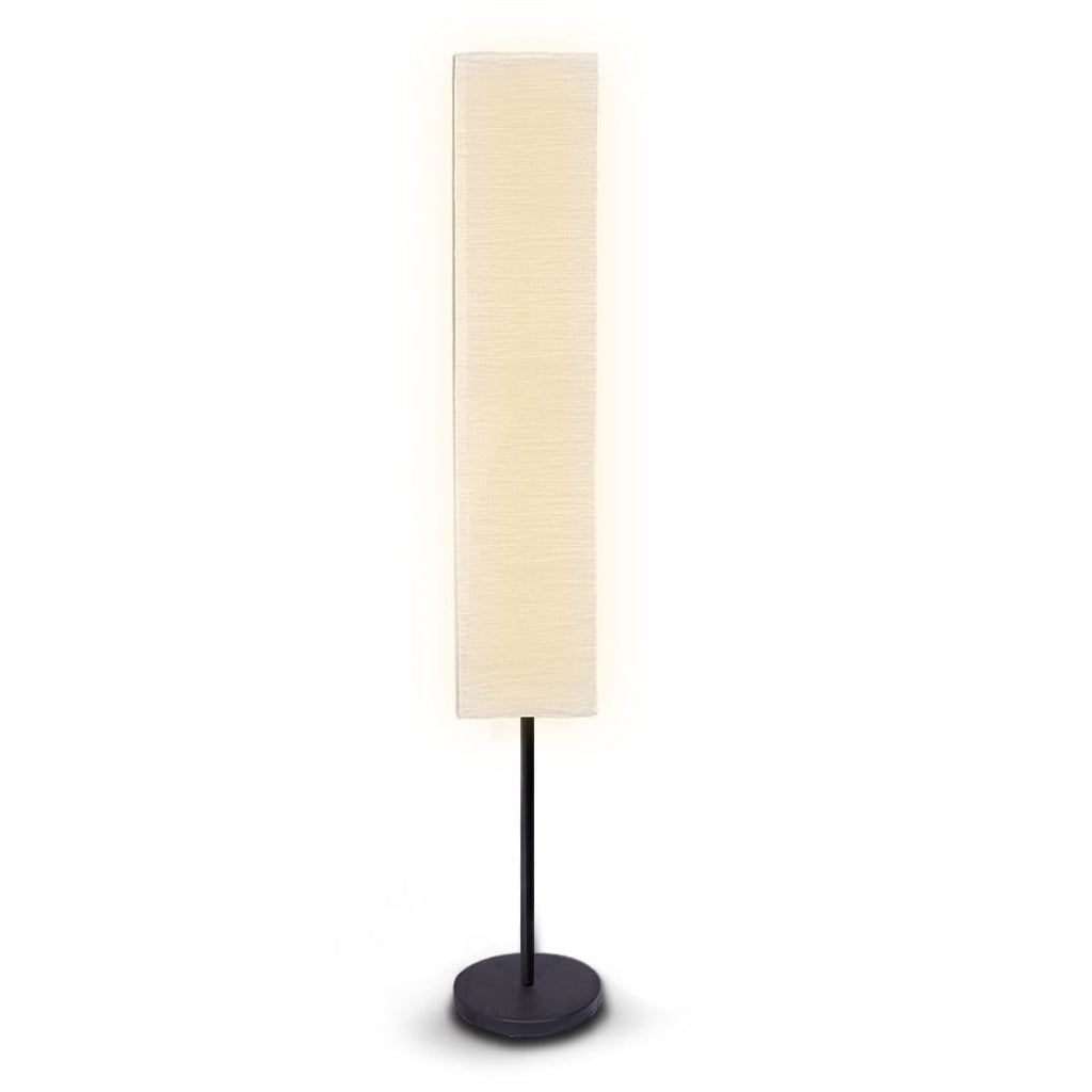Metal Floor Lamp with White Paper Wrinkle Shade Light Stand