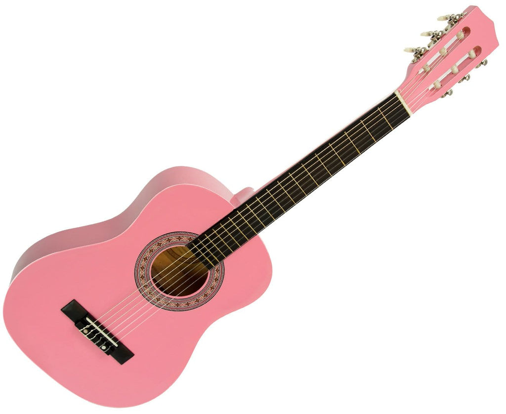 Childrens Guitar Karrera 34in Acoustic Wooden - Pink