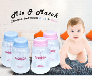 FREE-ME Wearable Breastpump with 4 FREE Standard Neck Storage Bottles